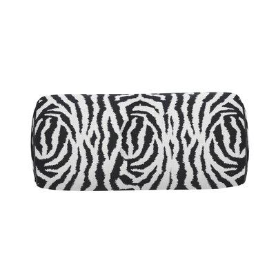 Zebra Indoor/Outdoor Bolster (Set of 2) Color: Midnight