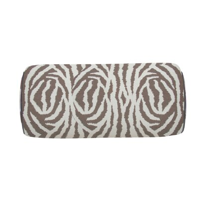 Zebra Indoor/Outdoor Bolster (Set of 2) Color: Pebble