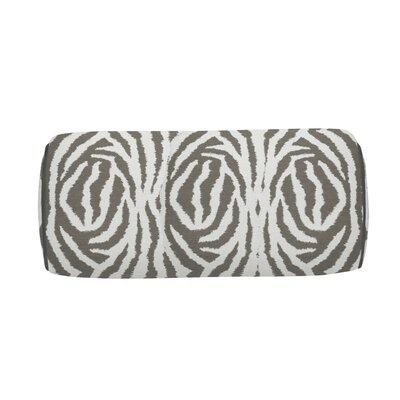Zebra Indoor/Outdoor Bolster (Set of 2) Color: Stone