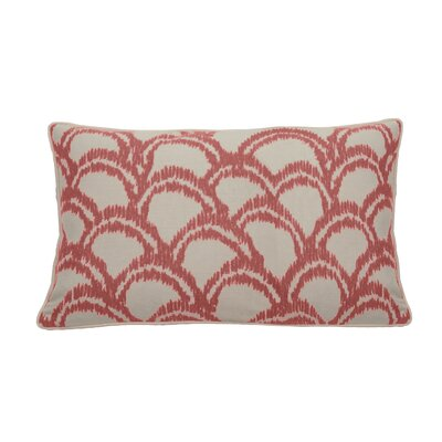 Alena Indoor/Outdoor Lumbar Pillow (Set of 2) Color: Flamingo