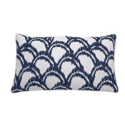 Alena Indoor/Outdoor Lumbar Pillow (Set of 2) Color: Indigo