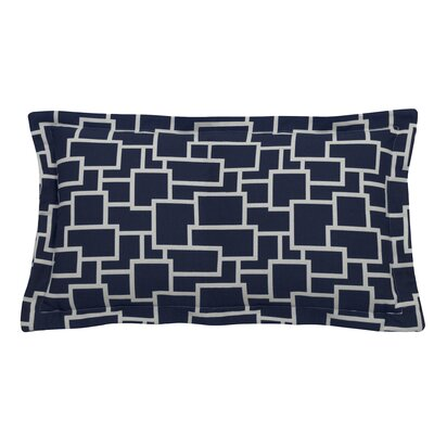 Magnitude Indoor/Outdoor Lumbar Pillow (Set of 2) Color: Indigo