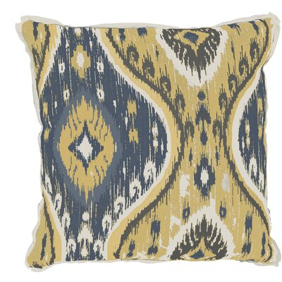 Manado Ikat Indoor/Outdoor Throw Pillow (Set of 2) Color: Mustard, Size: 22 x 22