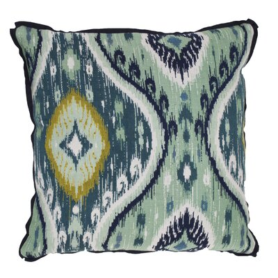 Manado Ikat Indoor/Outdoor Throw Pillow (Set of 2) Color: Peacock, Size: 22 x 22