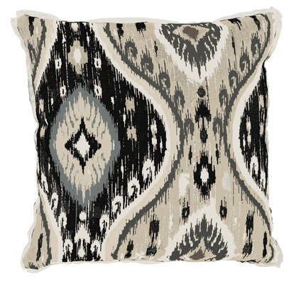 Manado Ikat Indoor/Outdoor Throw Pillow (Set of 2) Color: Pewter, Size: 22 x 22