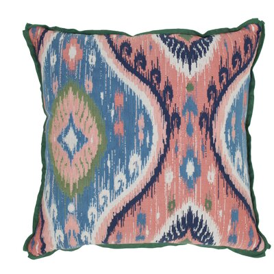 Manado Ikat Indoor/Outdoor Throw Pillow (Set of 2) Color: Indigo, Size: 24 x 24
