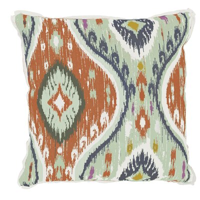 Manado Ikat Indoor/Outdoor Throw Pillow (Set of 2) Color: Mist, Size: 22 x 22