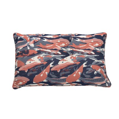 Beko Indoor/Outdoor Lumbar Pillow (Set of 2) Color: Flamingo