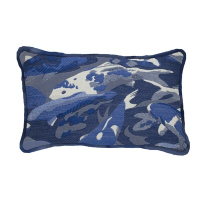 Beko Indoor/Outdoor Lumbar Pillow (Set of 2) Color: Indigo