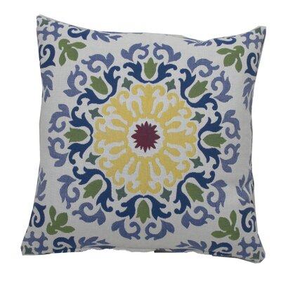 Molto Medallion Indoor/Outdoor Throw Pillow (Set of 2) Color: Indigo, Size: 24 x 24