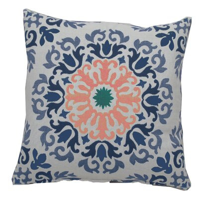 Molto Medallion Indoor/Outdoor Throw Pillow (Set of 2) Color: Flamingo, Size: 22 x 22