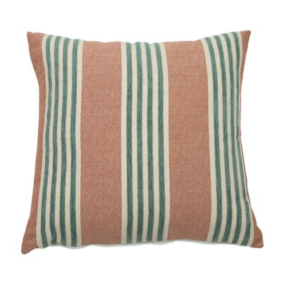 Bradford Indoor/Outdoor Throw Pillow (Set of 2) Color: Cajun, Size: 20 x 20