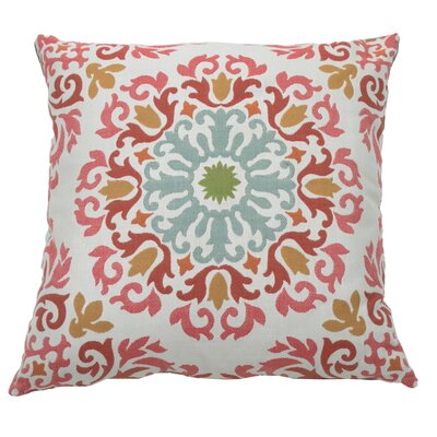 Molto Medallion Indoor/Outdoor Throw Pillow (Set of 2) Color: Cajun, Size: 22 x 22