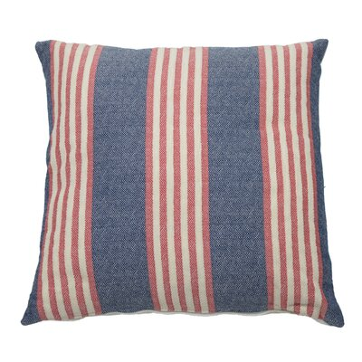 Bradford Indoor/Outdoor Throw Pillow (Set of 2) Color: Indigo, Size: 22 x 22
