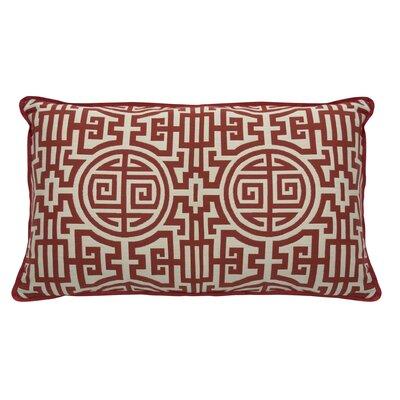 Nobu Indoor/Outdoor Lumbar Pillow (Set of 2) Color: Cajun