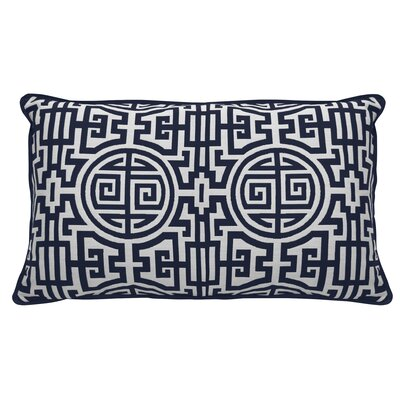 Nobu Indoor/Outdoor Lumbar Pillow (Set of 2) Color: Indigo