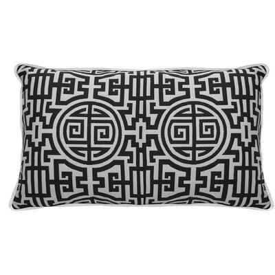 Nobu Indoor/Outdoor Lumbar Pillow (Set of 2) Color: Midnight