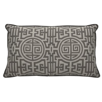 Nobu Indoor/Outdoor Lumbar Pillow (Set of 2) Color: Stone