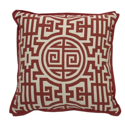 Nobu Indoor/Outdoor Throw Pillow (Set of 2) Color: Cajun, Size: 20 x 20