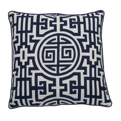 Nobu Indoor/Outdoor Throw Pillow (Set of 2) Color: Indigo, Size: 22 x 22