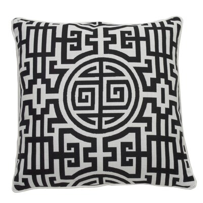 Nobu Indoor/Outdoor Throw Pillow (Set of 2) Color: Midnight, Size: 24 x 24