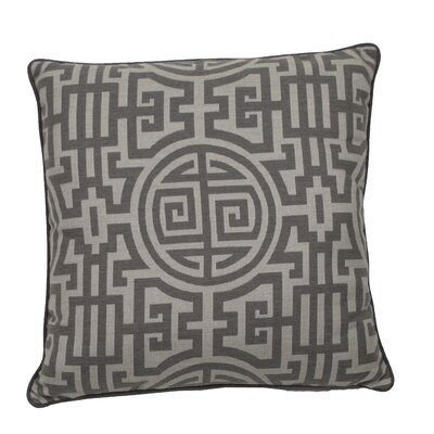Nobu Indoor/Outdoor Throw Pillow (Set of 2) Color: Stone, Size: 20 x 20