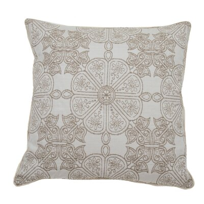 Cape May Garden Indoor/Outdoor Throw Pillow (Set of 2) Color: Almond, Size: 20 x 20