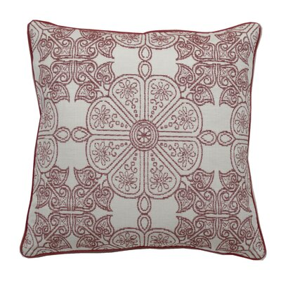 Cape May Garden Indoor/Outdoor Throw Pillow (Set of 2) Color: Cajun, Size: 24 x 24