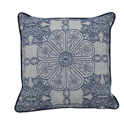 Cape May Garden Indoor/Outdoor Throw Pillow (Set of 2) Color: Indigo, Size: 24 x 24
