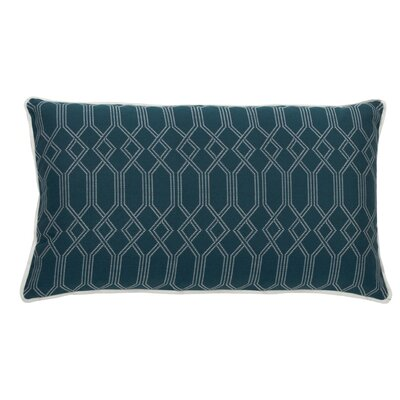 Connection Indoor/Outdoor Lumbar Pillow (Set of 2) Color: Peacock