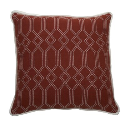 Connection Indoor/Outdoor Throw Pillow (Set of 2) Color: Cajun, Size: 20 x 20