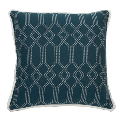 Connection Indoor/Outdoor Throw Pillow (Set of 2) Color: Peacock, Size: 20 x 20