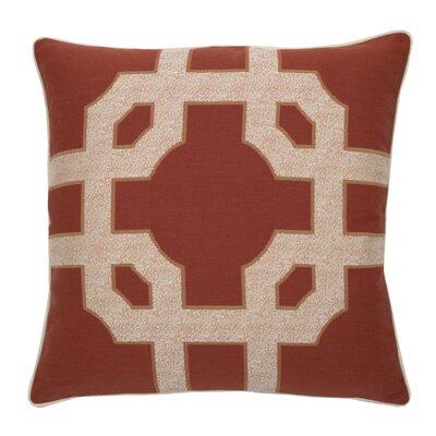 Fortune Indoor/Outdoor Throw Pillow (Set of 2) Color: Cajun, Size: 24 x 24