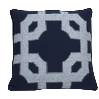 Fortune Indoor/Outdoor Throw Pillow (Set of 2) Color: Indigo, Size: 24 x 24