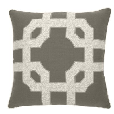 Fortune Indoor/Outdoor Throw Pillow (Set of 2) Color: Stone, Size: 24 x 24