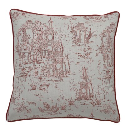 Osaka Toile Indoor/Outdoor Throw Pillow (Set of 2) Color: Cajun, Size: 20 x 20