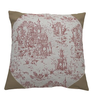 Osaka Toile Indoor/Outdoor Throw Pillow (Set of 2) Color: Cajun/Waylan, Size: 24 x 24