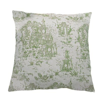 Osaka Toile Indoor/Outdoor Throw Pillow (Set of 2) Color: Emerald, Size: 22 x 22