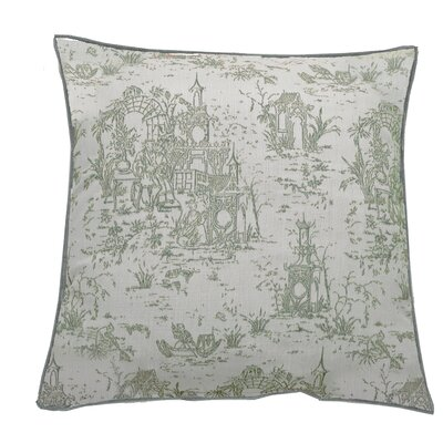 Osaka Toile Indoor/Outdoor Throw Pillow (Set of 2) Color: Mist, Size: 20 x 20