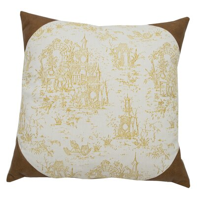 Osaka Toile Indoor/Outdoor Throw Pillow (Set of 2) Color: Mustard, Size: 22 x 22
