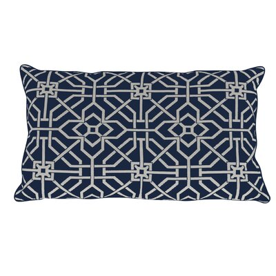 Port Palace Indoor/Outdoor Lumbar Pillow (Set of 2) Color: Indigo