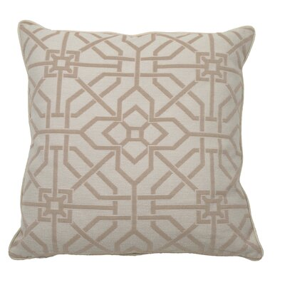 Port Palace Indoor/Outdoor Throw Pillow (Set of 2) Color: Almond, Size: 24 x 24