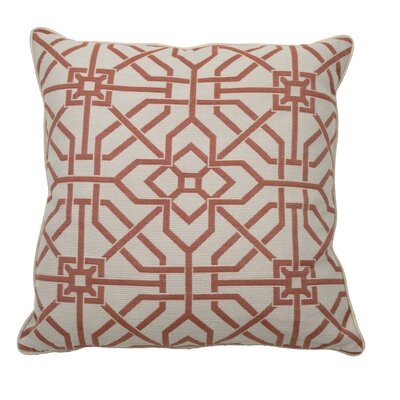 Port Palace Indoor/Outdoor Throw Pillow (Set of 2) Color: Cajun, Size: 22 x 22