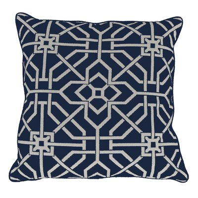 Port Palace Indoor/Outdoor Throw Pillow (Set of 2) Color: Indigo, Size: 22 x 22