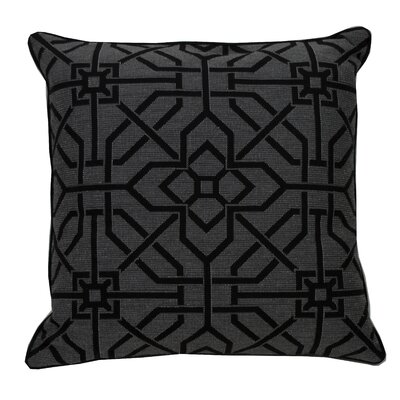 Port Palace Indoor/Outdoor Throw Pillow (Set of 2) Color: Midnight, Size: 24 x 24