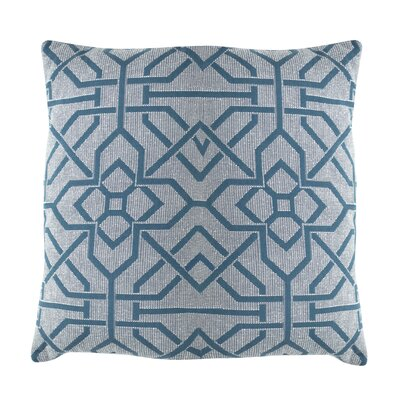 Port Palace Indoor/Outdoor Throw Pillow (Set of 2) Color: Peacock, Size: 22 x 22