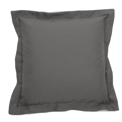 Verona Indoor/Outdoor Throw Pillow (Set of 2) Color: Pewter, Size: 17 x 17