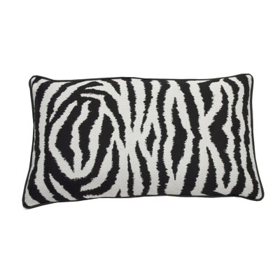 Zebra Indoor/Outdoor Lumbar Pillow (Set of 2) Color: Midnight