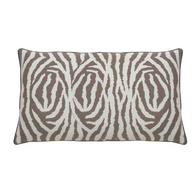 Zebra Indoor/Outdoor Lumbar Pillow (Set of 2) Color: Pebble