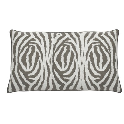 Zebra Indoor/Outdoor Lumbar Pillow (Set of 2) Color: Stone